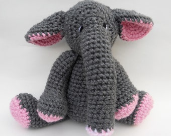 Elephant Crochet Doll