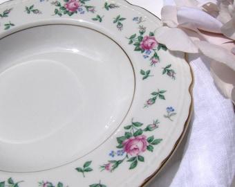 2 Vintage Soup Bowls Princess China Sweet Briar Scalloped Tru Tone ~ #3053