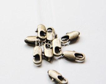 10 Pieces / Brass Oxidized / Brass Base / Lobster Clasp (C336//I84)