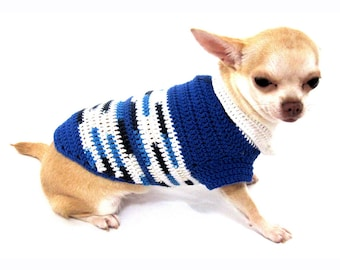 Crochet Pet Clothing Peter Pan Collar Handmade Crochet XXS Dog Clothes ...