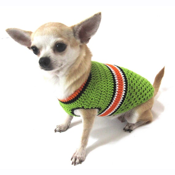 Dog Clothes XXS Pet Clothing Cotton Crochet Teacup Chihuahua Sweater ...