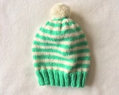 Knit Wool Beanie with Pompom