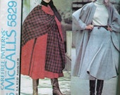 70's Vintage Halston McCall's - Cape and Flared Skirt-  Size 12