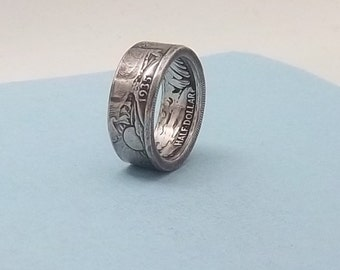 Silver coin ring walking liberty half dollar 90% fine silver jewelry year 1935 size 12