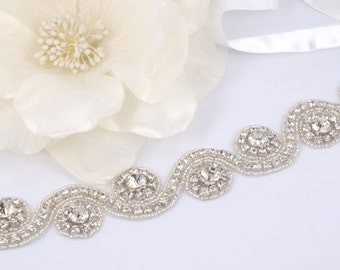 Beatrice - Vintage Style Rhinestone Crystals Wedding Head Band