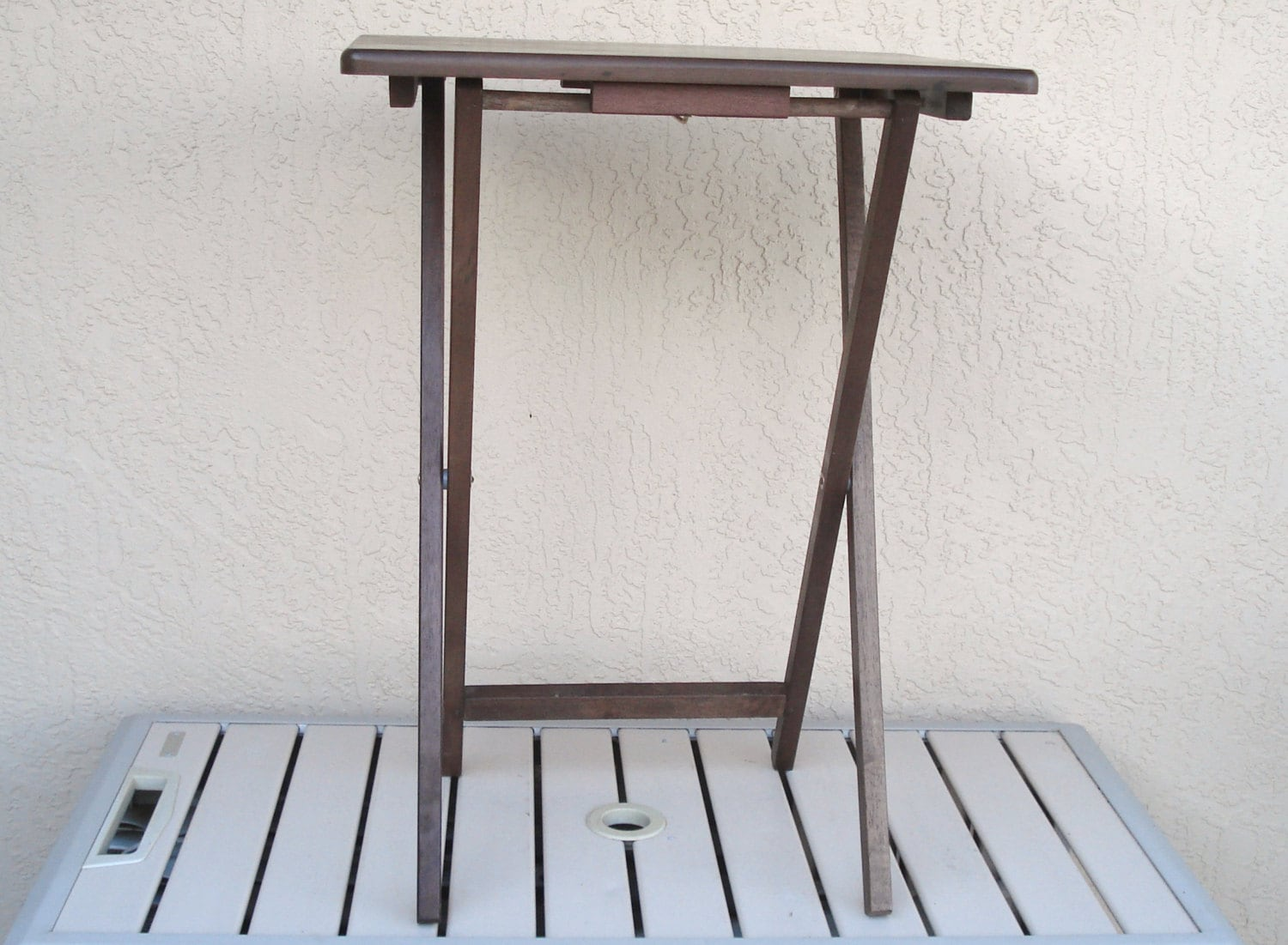 Superb img of Vintage Wooden Wood Folding Bed Side Table by npebaysale on Etsy with #526579 color and 1500x1101 pixels
