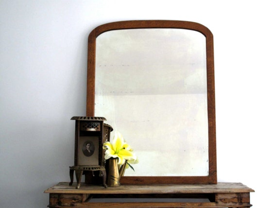 Antique Wood Mirror Large Vintage Wall Mirror By