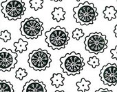Rare hard to find - Coffee Shop - Blank Quilting - Floral - White - modern
