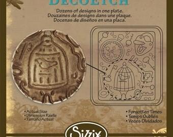 Vintaj BigKick Forgotten Times DecoEtch Die Plate - Sizzix