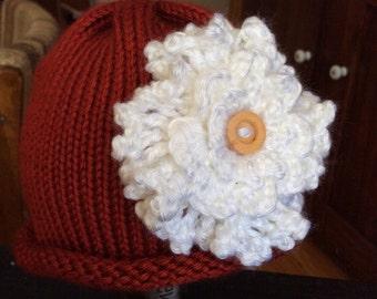 Infant baby flower hat, newborn- 6 months