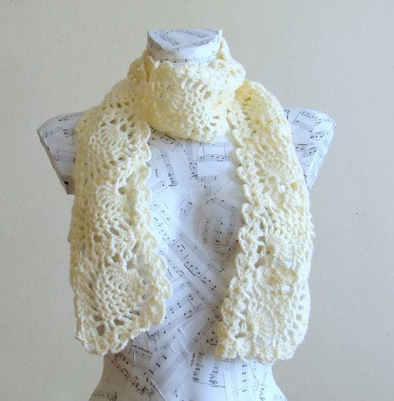 sale handmade crochet pineapple scarf crochet by