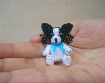 Papillon - Crochet Miniature Dog Stuffed Animals - Made To Order