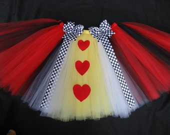 Queen of Hearts tutu, custom made in your choice of size up to 4t