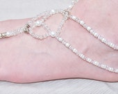 Foot jewelry destination wedding jewelry beach jewelry Swarovski foot jewelry