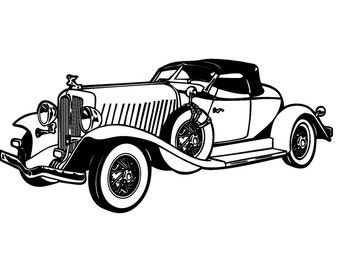 Classic Car // FLONZ Clear stamp clingy acrylic