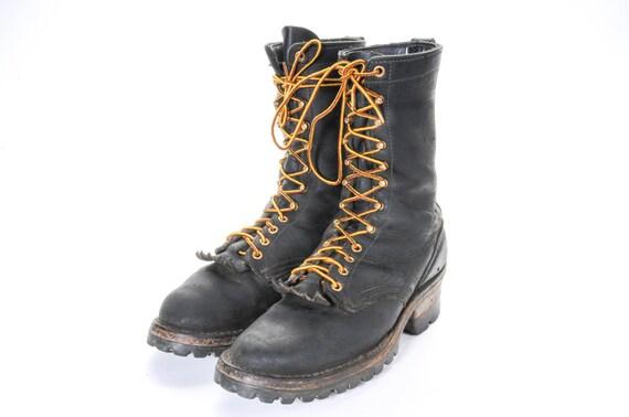 White's Logging Boots Size 9C by  Hathorn