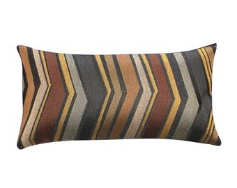 Lumbar Pillow Cover 8x16 Petite Lumbar Chevron Upholstery Fabric Decorative Pillow Oblong Throw Pillow Cover
