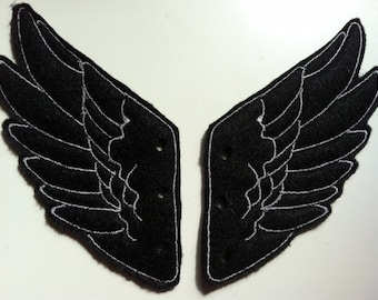 Black and Gray thread Percy Jackson Inspired Shoe Wings