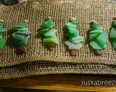 SEAGLASS Green Christmas Trees FOR BARBARA