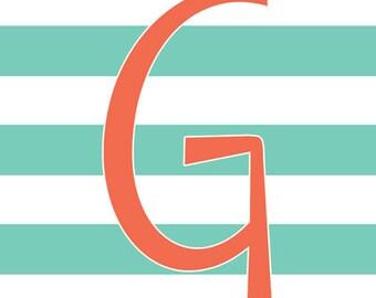 Monogram Letter Printable Art 5 Geometric Designs Customized 8x10 / 16x20 Digital JPEG