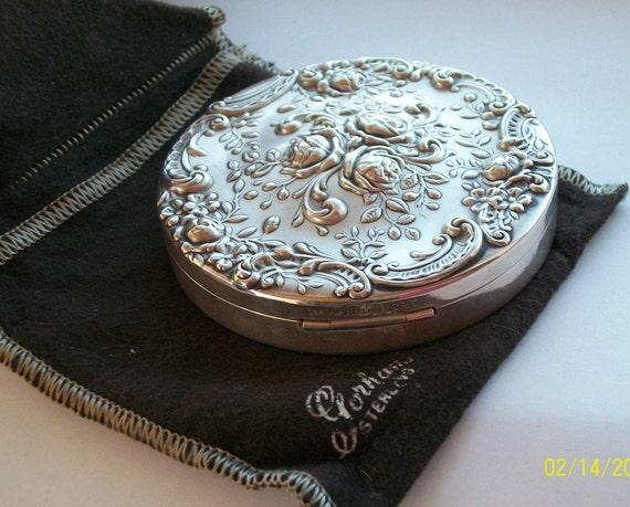 Gorham Sterling Antique Compact Gorgeous Hallmarked