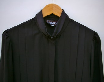 Black Pleated Blouse