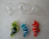 Floating Glass Sea Horses Three Pack