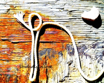 Alphabet Letter n Photograph Digital Rustic Rope Western Instant Download 5 Photographs