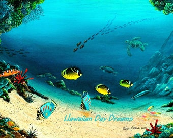 Butterfly Fish Fine art Giclee print  by VICKIE PETERS