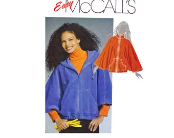 Easy to Sew Capelets Sizes 16-18 20-22 Large-Extra Large Bust 38-40 42-44 Poncho Cape Hood Hoodie McCalls 5985 OOP UNCUT Sewing Pattern