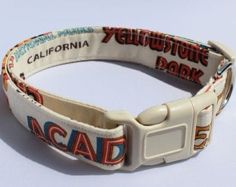 National Parks Dog Collar Camping Size XS, S, M, L