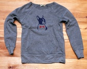 you handsome devil Boston Terrier Sweatshirt, Bowtie Dog Sweater, Grey Sweater, S,M,L,XL,2XL