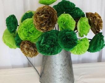 Irish St Patrick's Day Handmade Paper Flower Wall Hanging