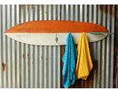 Surfboard Towel Hook Wooden Beach Decor Surf Decor