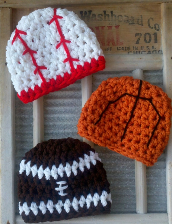 Baby Boy Sport Hat Hats baseball football basketball Sports Girl newborn trio 0-3 3-6 6-12 toddler Months Beanie Mos Team Colors