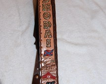 Banjo Strap, Custom, Personalized, made in USA with 100% USA Leather