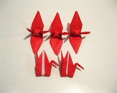 "100 3"" Valentine's day Gift Present RED origami cranes paper cranes Wedding Party Decoration Christmas Tree Ornament Decoration"