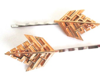 Gold Hairpins Geometric Hair Leaves Wedding Jewelry Bridal Hair AccessoriesFashion Clips