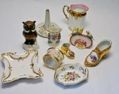 German & French Vintage and Antique Porcelain Items Estate Lot All in fine Condition Signed Hand Painted Victorian to 1940s Era