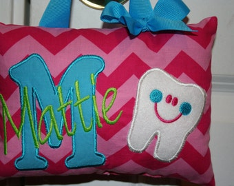 Tooth Fairy Pillow Girl Personalized Chevron