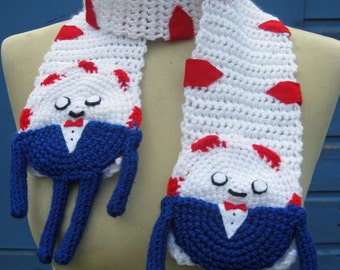 Crochet Peppermint Butler from Adventure Time Scarf  - Made to Order