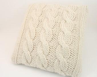 PDF DIGITAL PATTERN:Knit Pillow Cover Pattern,Throw Pillow Cover,Decorative Pillow Cover,Throw Pillow Covers 18x18,Pillow Pattern,Cable Knit