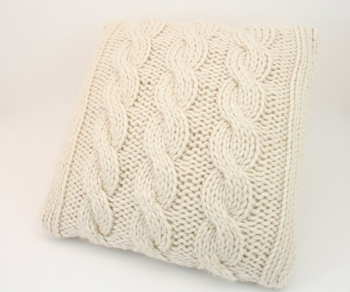 Knitting Patterns For Cushions And Throws : PDF DIGITAL PATTERN:Knit Pillow Cover PatternThrow Pillow