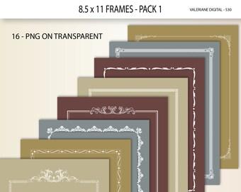 16 Clip art Design Elements, digital border, digital frame, clipart design  for invitations, photography -  530
