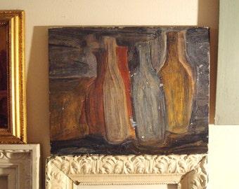 1950s Fake Morandi Painting 15 x 12 inches Not Morandi but Very Charming Tribute