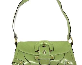 Buckle Green Shoulderbag Purse Handbag