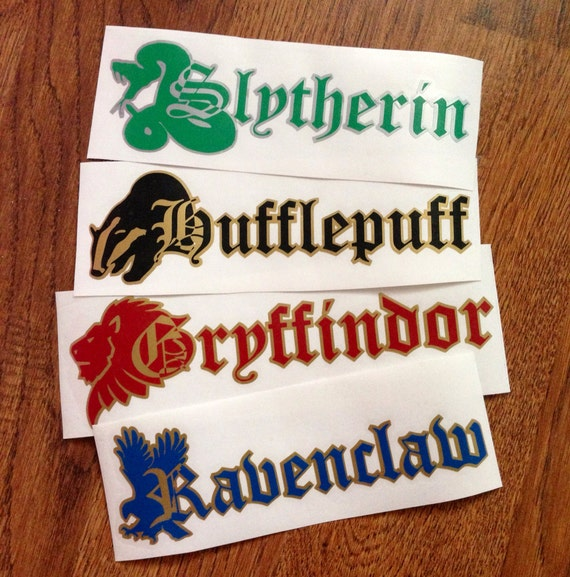 Harry potter pick your hogwarts house decal - Hogwarts decal ...