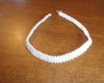 vintage necklace faux pearls collar