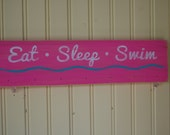 Eat Sleep Swim Ribbon and Medal Display Hanger -  Customization Available