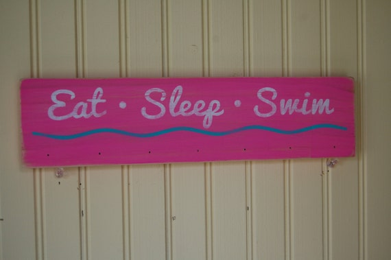 Eat Sleep Swim Ribbon and Medal Display Hanger